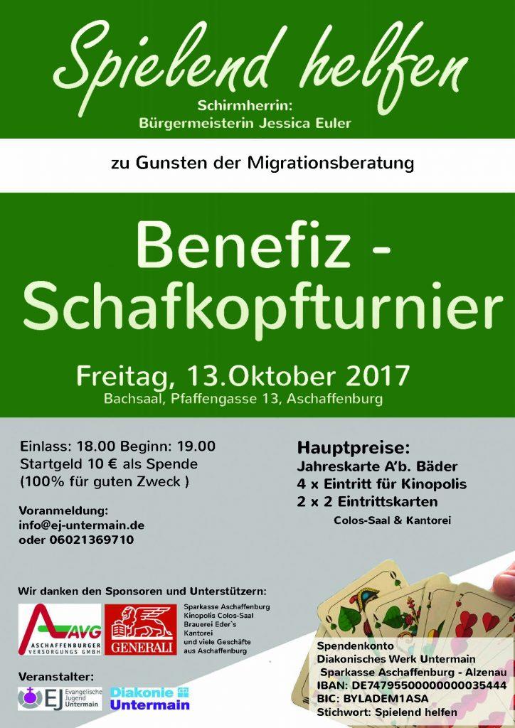 Schafkopfturnier – Benefizabend am 13.10.2017 in Aschaffenburg